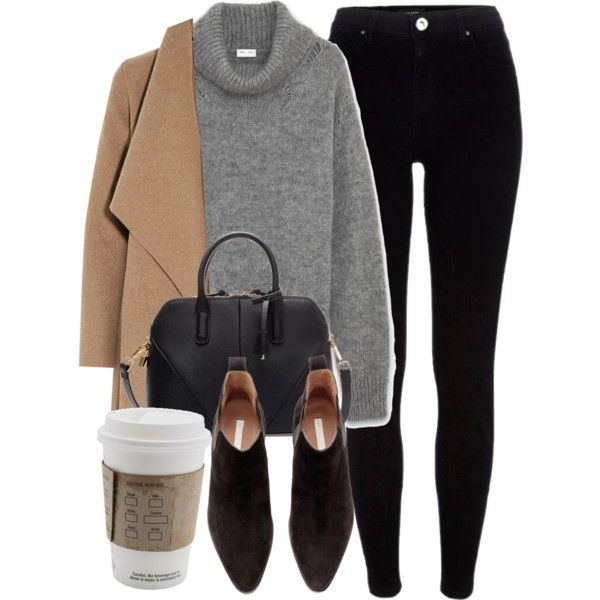 Untitled #5458 by laurenmboot on Polyvore featuring Yves Saint Laurent, Harris Wharf London, River Island, H&M and Zara