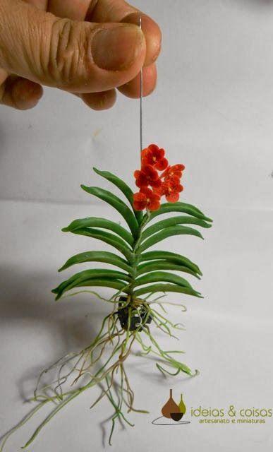 Idéias & Coisas - arte em miniaturas: miniature orchids / orquídea miniatura