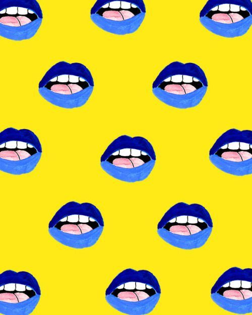 we love blue lipstick | ban.do