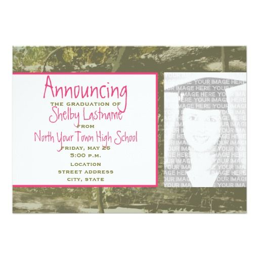 17 Best images about pink graduation invitations – Rom Invitation Card