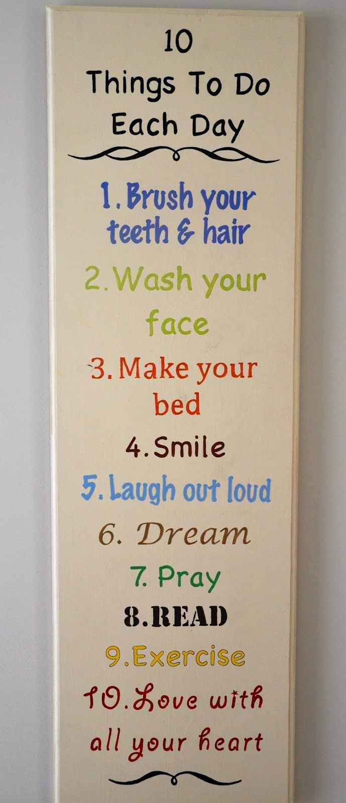 "52 Social: ""10 Things To Do Each Day"" Sign"