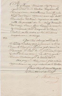 1814 FRENCH PARCHMENT SIGNED CORRESPONDENCE LETTERS
