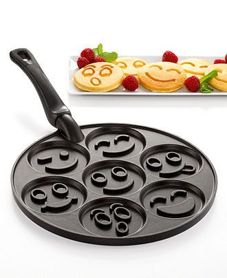 I can't take the amount of adorable-ness!!!! AAACK! ~~Nordicware Pancake Pan, Smiley Faces - Bakeware - Kitchen - Macy's I WANT ONE!!!