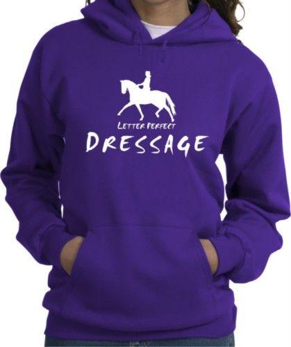 Dressage Letter Perfect Horse and Rider Purple Hooded Sweatshirt - Charlie Horse Apparel #horse: Horse And Rider, Rider Purple, Horses, Purple Hoodie, Hooded Sweatshirts, Western Pleasure