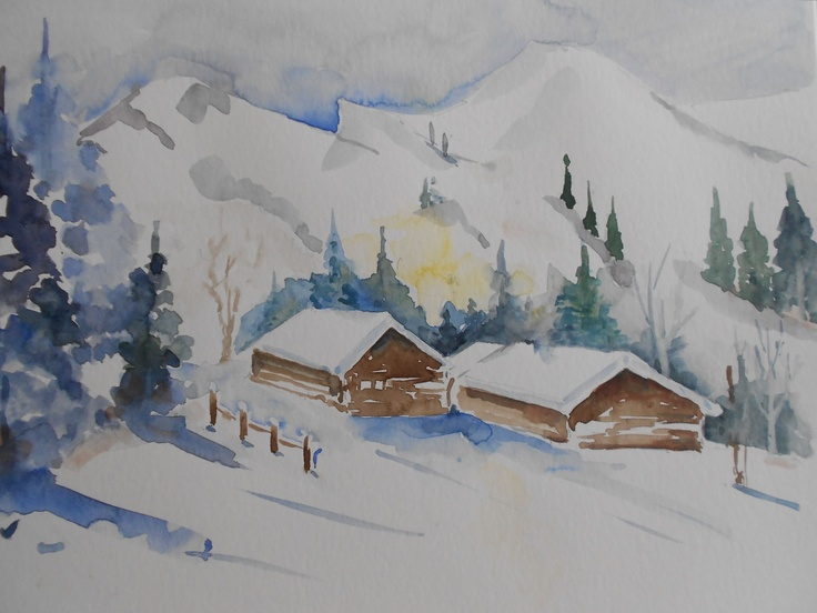 Winter  Aquarell © by Maria Földy