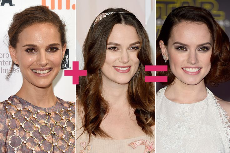 Natalie Portman + Keira Knightley = Daisy Ridley they look so alike