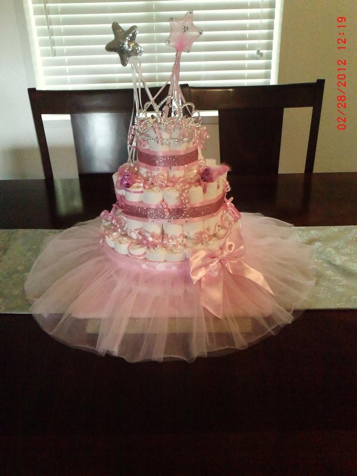 Princess Diaper Cake Diaper Cakes Pinterest Skirts
