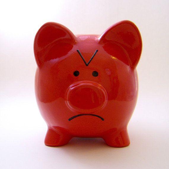 Emoticono feliz Piggy Bank la Original Emoti-cerdo