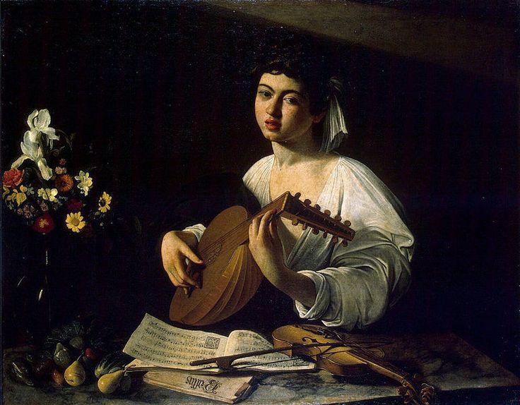 El tocador de llaüt (1596). Caravaggio. Museu de l'Ermitage (Sant Petersburg)
