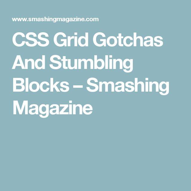 CSS Grid Gotchas And Stumbling Blocks – Smashing Magazine