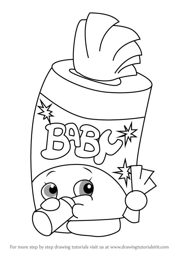 Draw Shopkins Baby Swipes