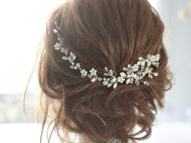 Bridal Headpiece, Crystal Bridal Hair Piece, Cristal and Pearl Bridal Headpiece, Bridal Hair Halo, Crystal and Pearl Wedding Hair Piece. by SvetloDesign on Etsy https://www.etsy.com/ca/listing/397943267/bridal-headpiece-crystal-bridal-hair