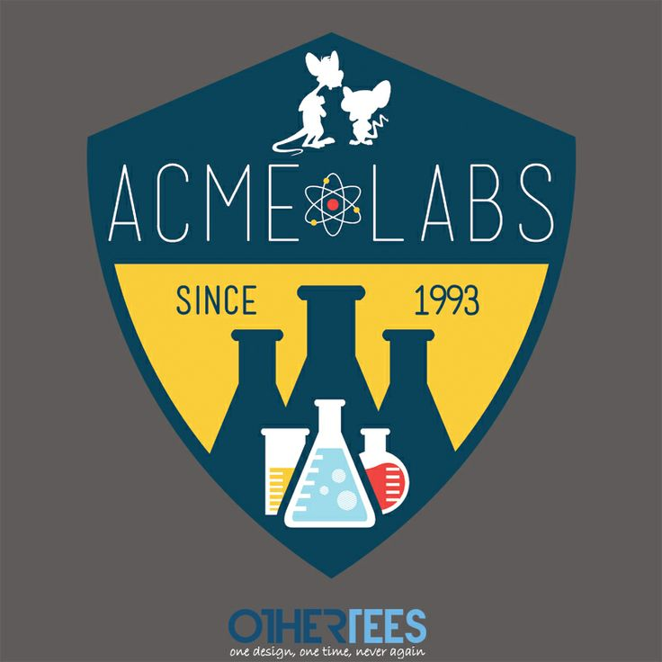 Acme Labs by SnoMad_Designs Shirt on sale until 01 April on http://othertees.com #animaniacs Weekly free tee winners are now live at http://www.othertees.com/othertees/win_free_tees/ !