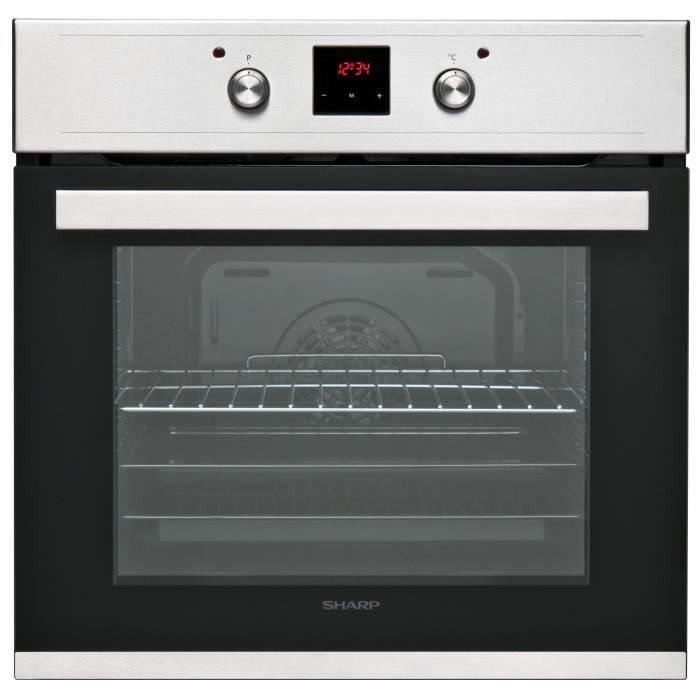 SHARP K-60D22IM1 Eingebauter elektrischer Ofen – Hitze gerührt – 69L – Manuelle Reinigung – A – Edelstahl-Spurenschutz