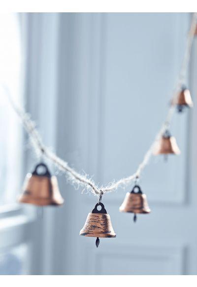 Copper Jingle Bell Garland - Indoor Living
