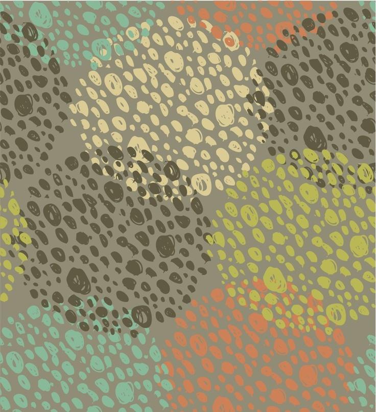 organic #polkadots #wallpaper inspiration #circles #prints #graphics #textiles #interiordesign