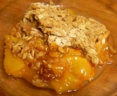 Fresh peach crisp I used frozen peaches awesome!
