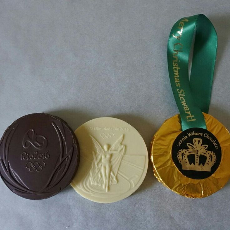 Our Personalised Organic Olympic Chocolate medals at https://www.laviniawilsonschocolates.com/product/rio-chocolate-medals/