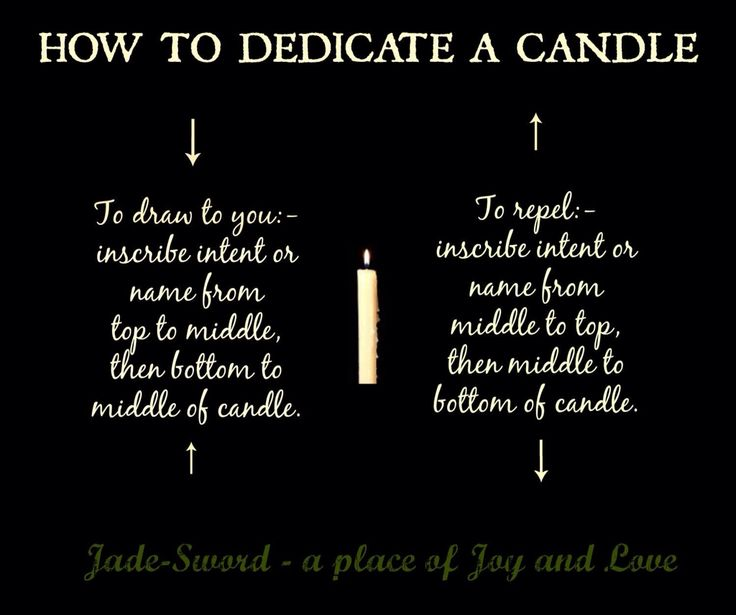 How to dedicate a candle- Pinned by The Mystic's Emporium on Etsy