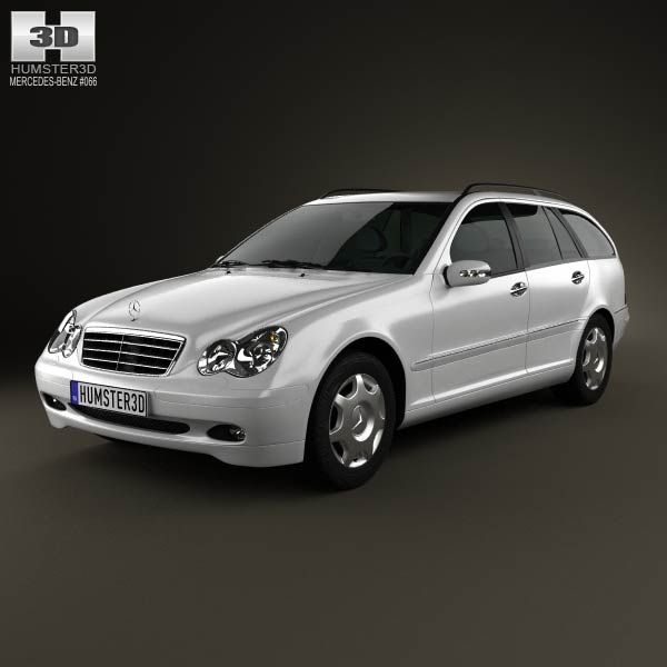 Mercedes-Benz C-Class (W203) estate 2005 3d model from humster3d.com. Price: $75