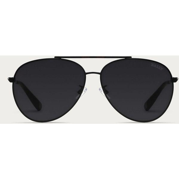 Bally AVIATOR SUNGLASSES Men´s aviator-style sunglasses in Black Men´s... ($210) ❤ liked on Polyvore featuring men's fashion, men's accessories, men's eyewear, men's sunglasses, mens eyewear, mens aviator sunglasses, men's oval sunglasses, mens sunglasses and mens aviators