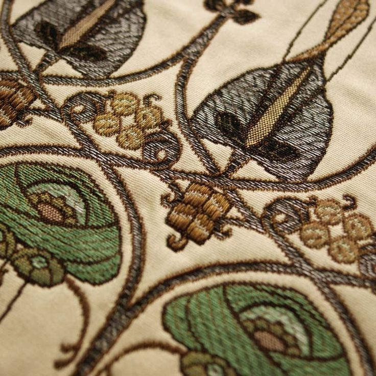 Art Deco Art Nouveau Purple Flat-Weave Curtain and Upholstery Fabric | Art…