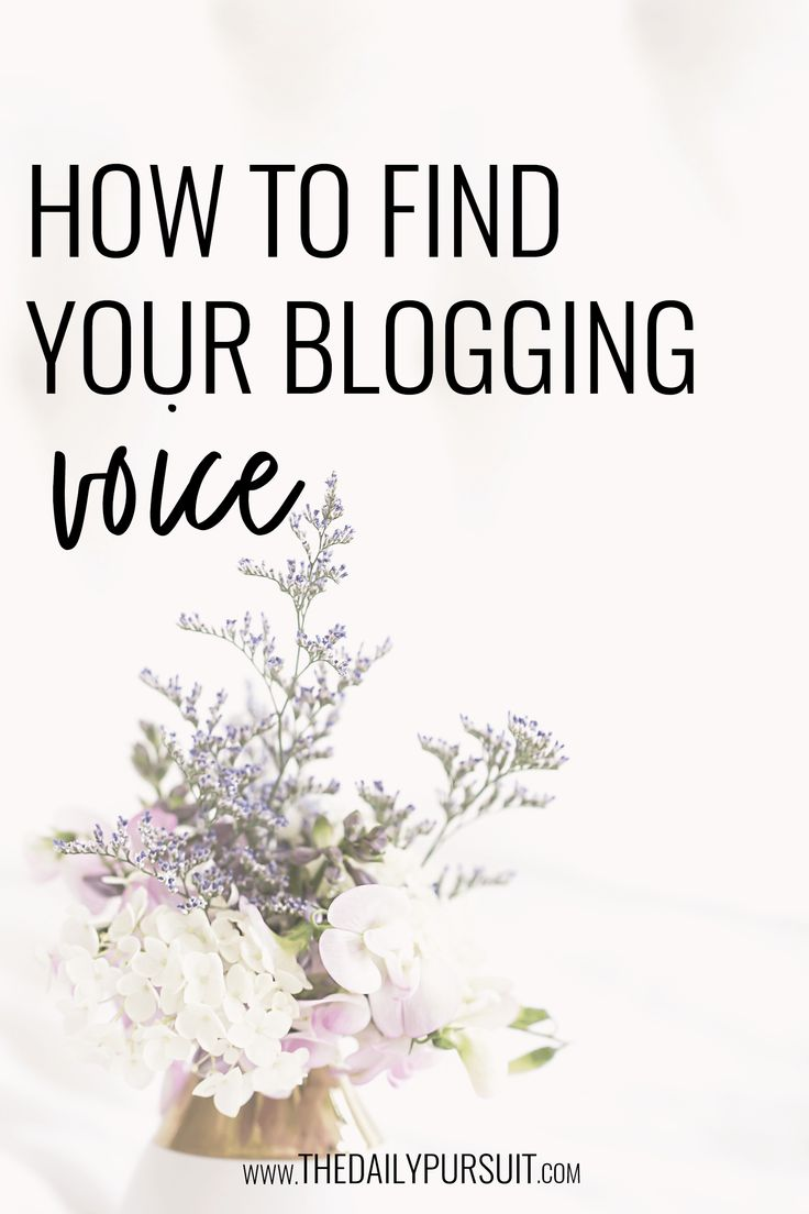 How to develop your blogging voice – The Daily Pursuit