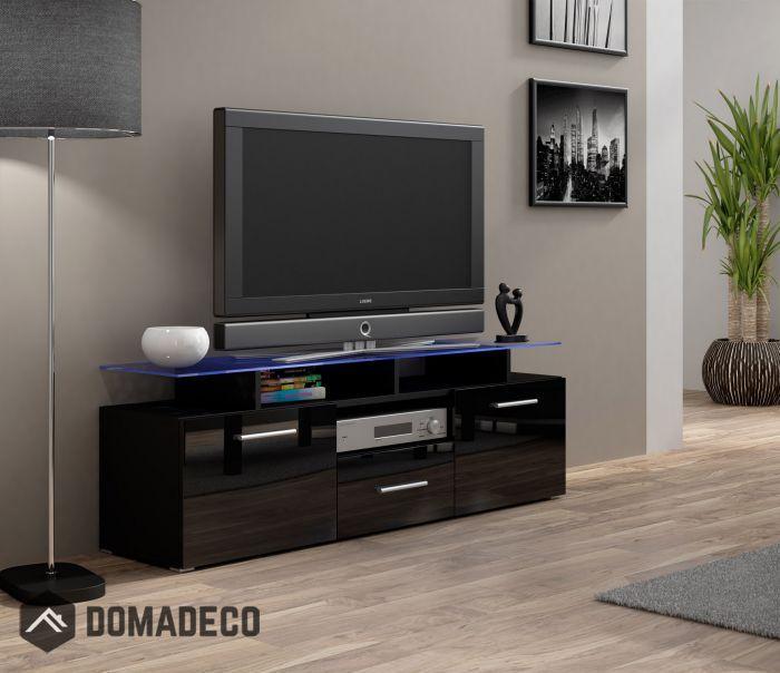 Enea Mini Black 42 Inch Tv Stand Flat Screen Tv Stand Modern Tv