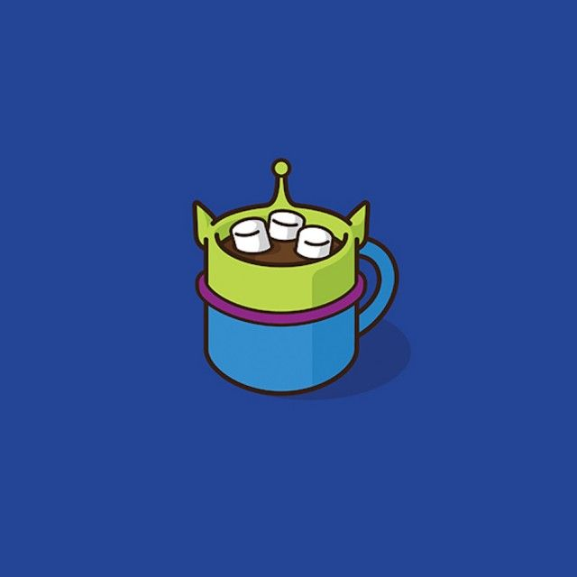 Pop Culture and Super Heroes Coffee Mugs (Toy story alien)