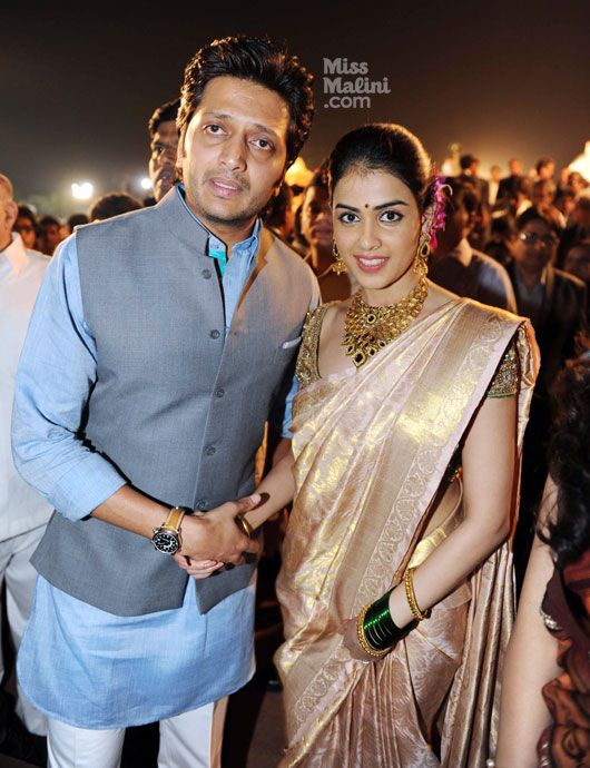 genelia d'souza and ritesh deshmukh wedding reception photos - Google Search