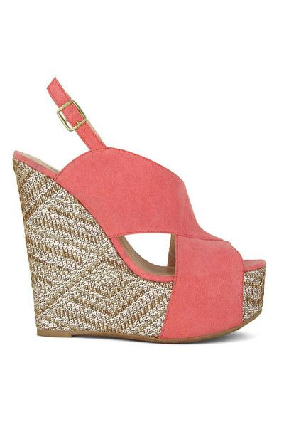 Picture Perfect Wedges - Rose
