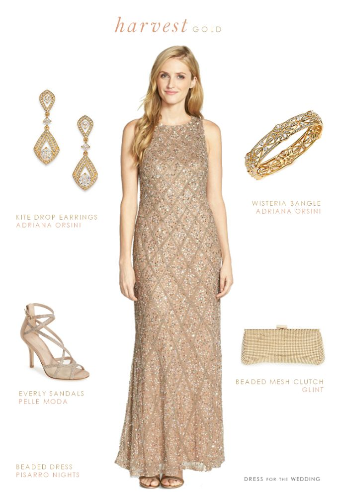 43c36eb61f Taupe Beaded Gown for a Wedding