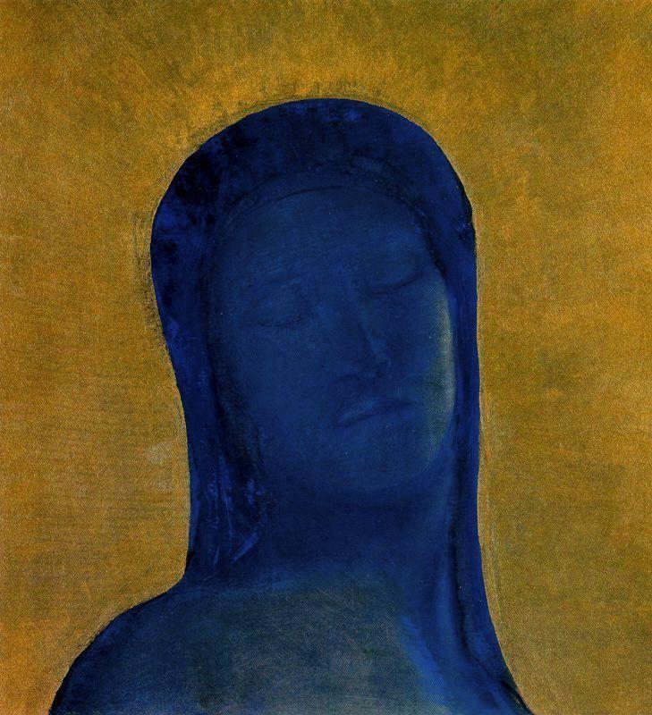 'Les Yeux fermés' (version 1894) by French Symbolist artist Odilon Redon (1840-1916).