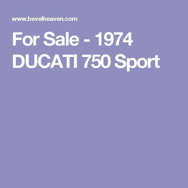 For Sale - 1974 DUCATI 750 Sport