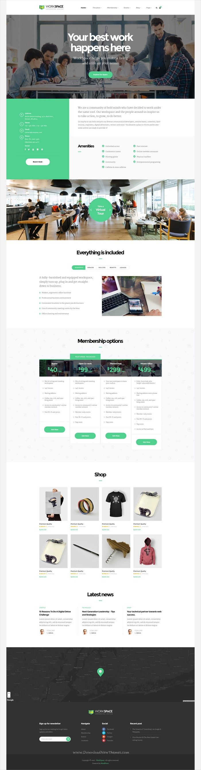 Workspace is a creative 3in1 responsive #WordPress theme for #Coworking Spaces, Open #Office, #Meeting, Conference Space Rentals, Corporate Company website download now➩ https://themeforest.net/item/workspace-creative-office-space-wordpress-theme/19356594?ref=Datasata