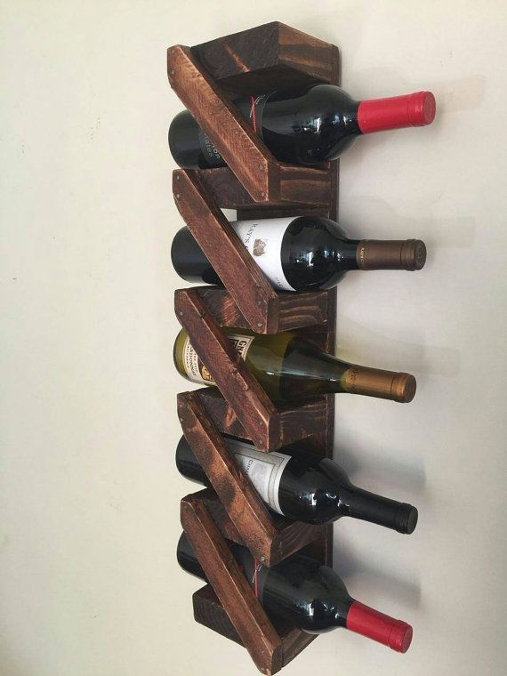 Rustic Wooden wine rack handmade home von thestandardcollectiv
