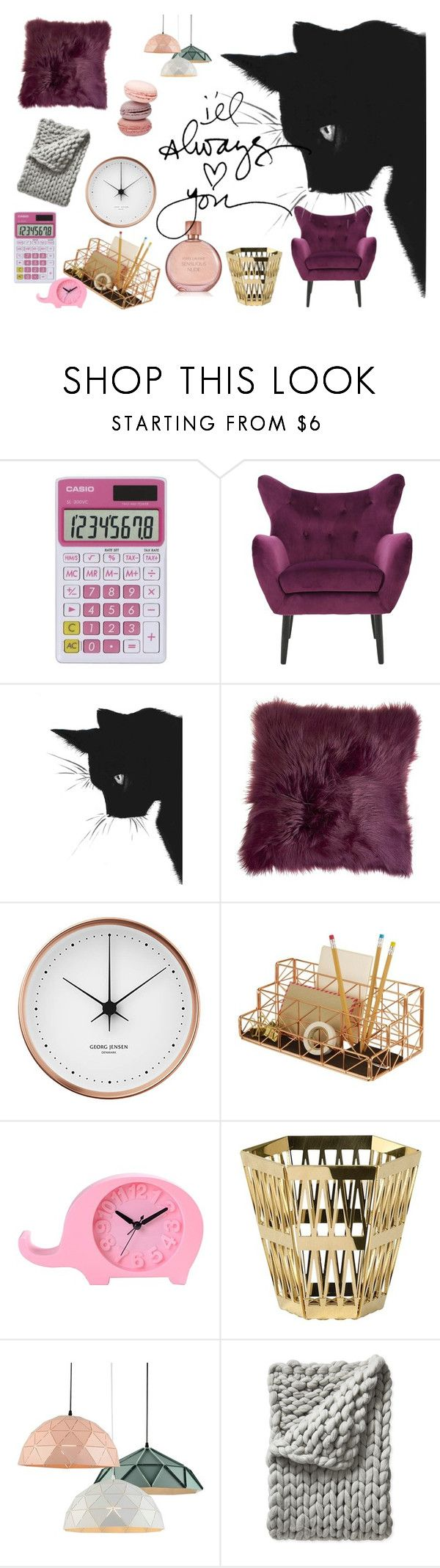 """""""home"""" by cirlogea-ana ❤ liked on Polyvore featuring Casio, Georg Jensen, Design Ideas, Ghidini 1961, Serena & Lily and Estée Lauder"""