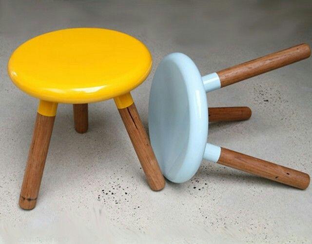 Spun stool by Cafe culture + insitu