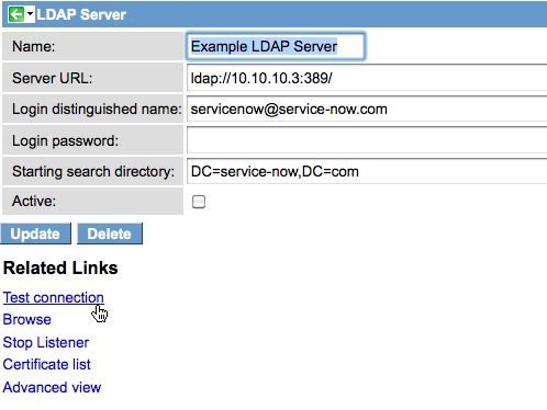 LDAP Integration Troubleshooting – ServiceNow Wiki #ibm #ldap #server http://portland.remmont.com/ldap-integration-troubleshooting-servicenow-wiki-ibm-ldap-server/  # LDAP Integration Troubleshooting Contents 1 Overview If you are integrating your LDAP server and have questions, these items may help you troubleshoot the issue. LDAP integration via MID Server troubleshooting is also included. 2 Troubleshooting Preliminary Checks 3 Error Codes The LDAP Log file lists industry standard error…
