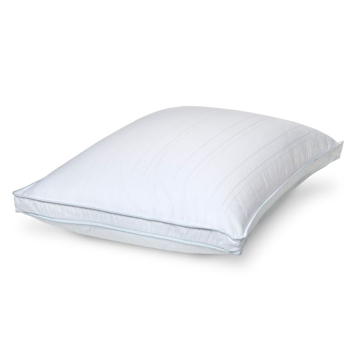 Goose Down Pillow Firm Support - Fieldcrest™ Luxurious Cotton & Tencel(R) blend dobby cover; removable for easy care 400 thread count Goose down fill (minimum 75% down), 650 fill power; Lightweight with maximum loft; Designed for back and side sleepers; Hypoallergenic; Firm fill density; Machine washable; Available in standard, queen and king sizes