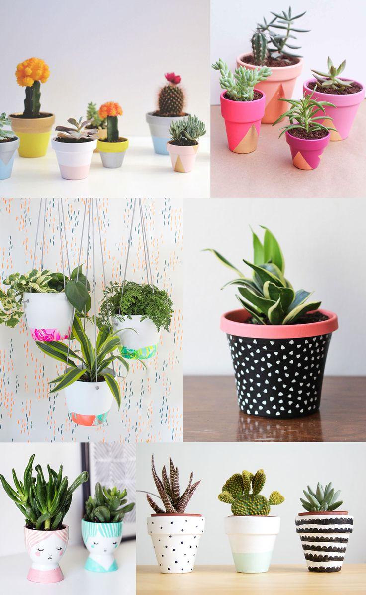 DIY Painted Pots - Cute home decor idea!