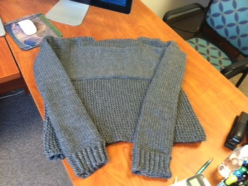 Tiffany's loom knitted sweater