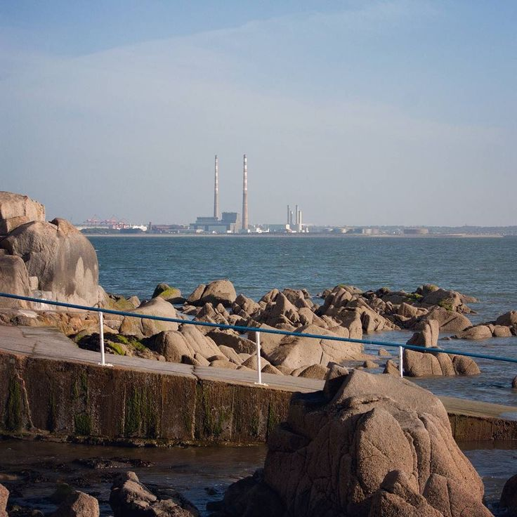 The iconic pigeon pipes from Seapoint #dublin #poolbeg #seapoint #lovedublin