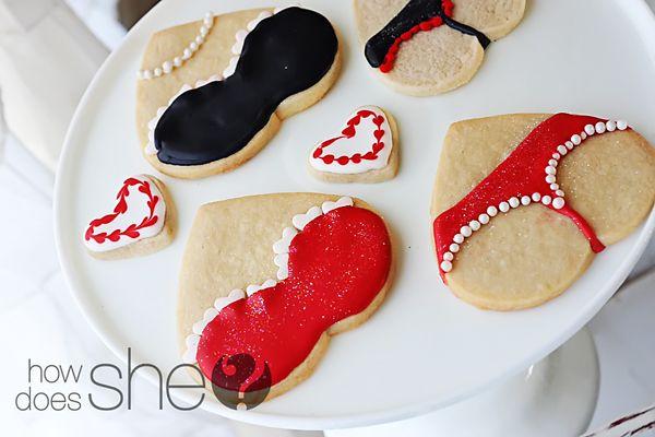 bachelorette party/lingerie shower cookies-super cute!