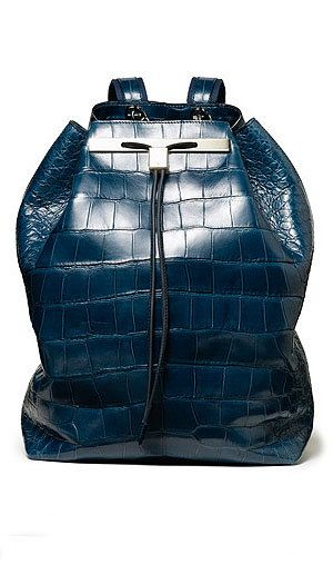 The Row Black Alligator Backpack
