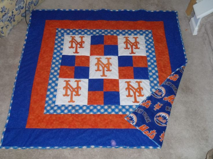 NY Mets Quilt- Gonna Try This One For The Bf!