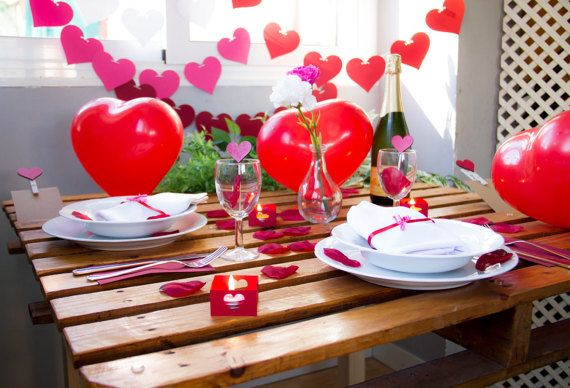 Kit Decoración San Valentin // Valentine's por LaSeraCraft en Etsy