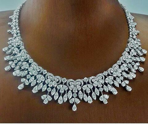 @pjgrp. Add elegance around your neckline with 47.81 cts fancy diamond necklace.