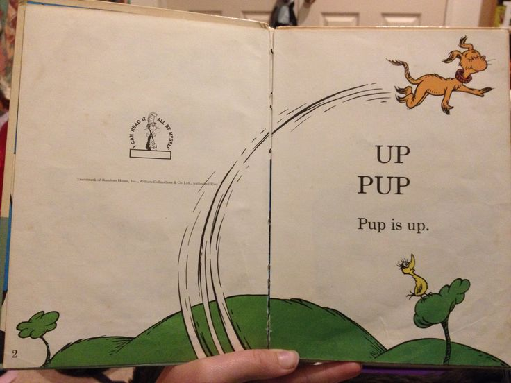 Leading lines is shown in this illustration. The lines going across the page encourages the reader to follow the lines. Hop on Pop. Retrieved from