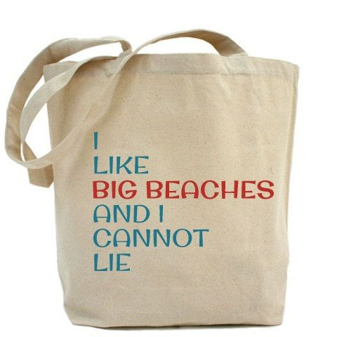 SALE Beach Bags  I Like Big Beaches And I Cannot by VintageBeach, $16.00